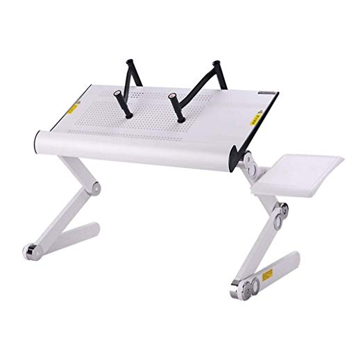 BPDD Computer Desk Portable Foldable Adjustable Folding Table For Laptop Desk Computer Mesa para Notebook Stand Tray For Sofa Bed Study Table (Color : White)