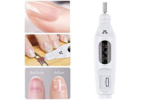 YiCai Electric Nail Drill for Acrylic Nail Portable Nail Files Manicure Set Polish Remover Pedicure Kit with 50 pcs Sand Rings