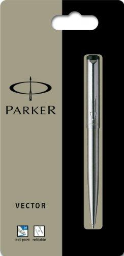 Parker Vector stainless steel Ball pen Kugelschreiber - silber color