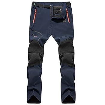 CARWORNIC Men s Quick Dry Convertible Hiking Pants Lightweight Zip Off Climbing Safari Outdoor Pants Blue