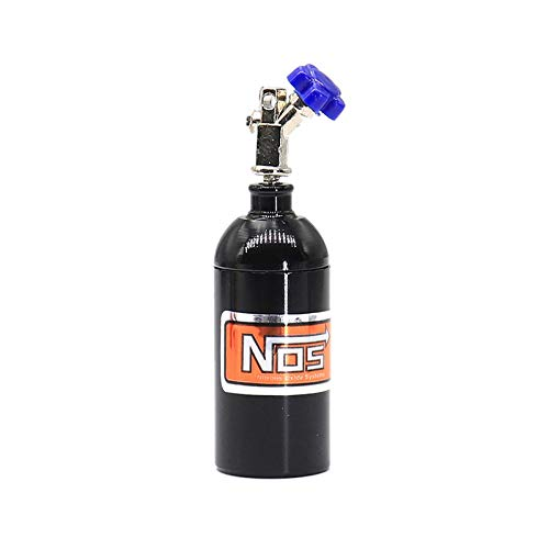 SNOWINSPRING Metall Simulierte NOS Stickstoff Flasche für 1/10 RC Crawler Auto TRX4 Bronco D90 D110 Axial Scx10 90046, Schwarz