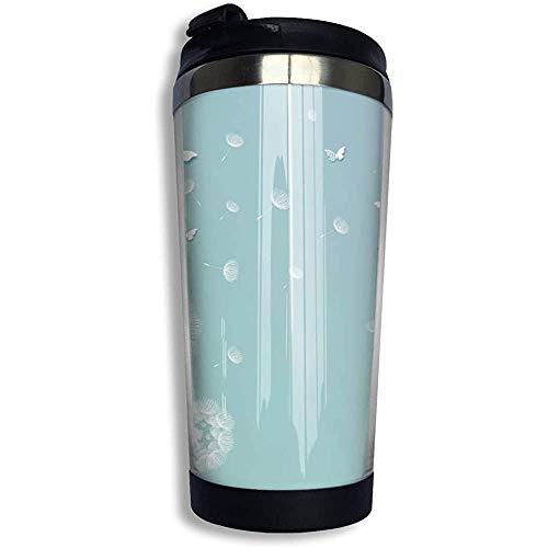 Kaffee Reisebecher Löwenzahn Kunst Auto Becher Tasse Eistee oder Wasserflasche Isolierte Thermotasse Edelstahl