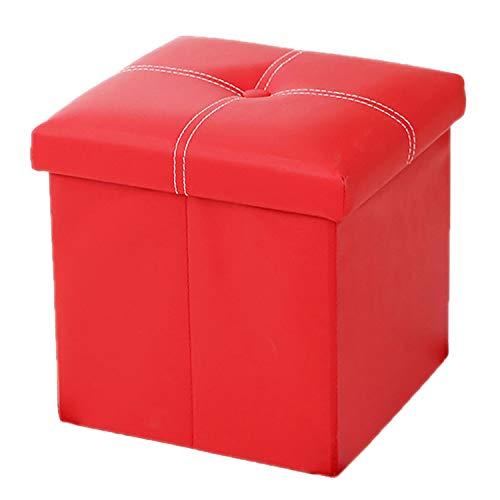 """NTBST 12"""" Banc Coffre IntéRieur, Pliable Table Basse Coffre de Rangement pour Coffre à Jouets,Red_30x30x30cm"""