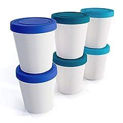 Zwin® 6er-Set Mini-Eiscreme-Gefrierbehälter mit Silikondeckel
