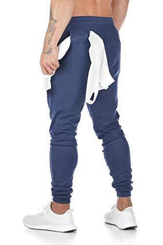 heekpek Herren Jogginghose Sporthose Baumwolle Fitness Slim Fit Hose Freizeithose Joggers Streetwear Sweathose Classic Elasticated Cuff Jog Pants