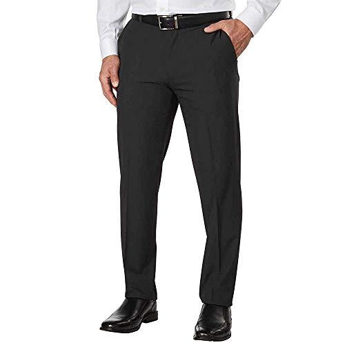 IZOD Mens Performance Stretch Straight Dress Pant (34W x 34L, Charcoal)