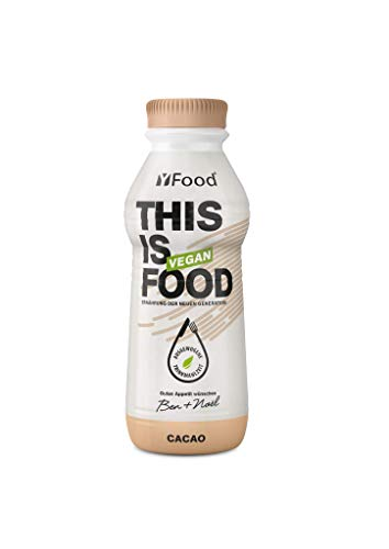 YFood Vegan Cacao | Ready to Drink Meal | Lactose and Gluten-Free Meal Replacement | 26 g of Protein, 26 Vitamins and Minerals | Plant-Based Protein-Shake | 12 x 500 ml (1 kcal/ml)