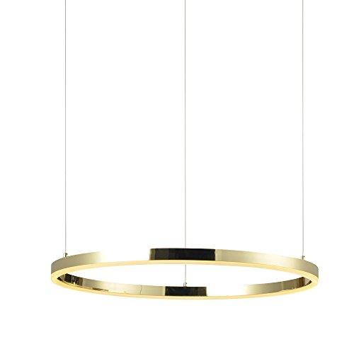 s.LUCE Ring L LED-Hängeleuchte Ø 80cm Dimmbar Gold LED-Ringleuchte LED-Ringlampe LED-Hängelampe Ring-Pendelleuchte