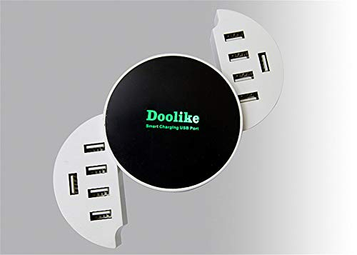N/A Best for 10-Port USB Charger Type C Fast Charger Smart LED Wall Travel Power HUB Adapter Socket for Mobile Phone White US Plug