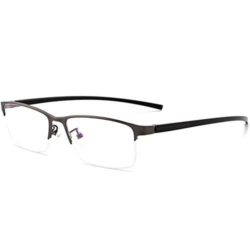 EYEphd Gafas de Lectura multifocales progresivas fotocromáticas para Hombres, Lente de Resina HD con Marco de Metal Lector para Exteriores /UV400 Aumento +1.0 a +3.0,Gris,+2.75