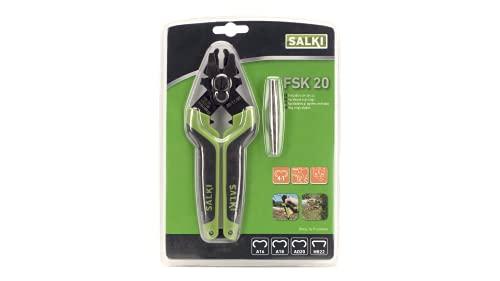 Grapadora Cercas FSK20 SALKI - Alicates para Vallas con Cortador de Alambre Incorporado de hasta 3mm de Espesor, Compatible con Grapas Anilladas Ω20 y HR22