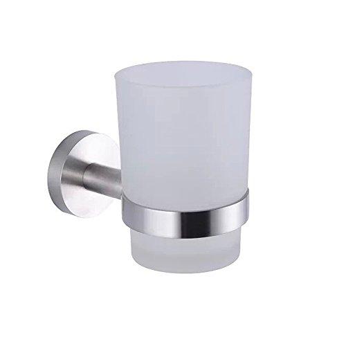 XVL Bathroom Wall-Mounted Toothbrush Holder, Brushed Steel G1006