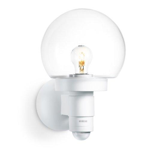 Steinel Sensor-Außenleuchte L 115 S weiß, 240° Bewegungsmelder, 12 m Reichweite, Grundlicht, Dauerlicht, Softlicht