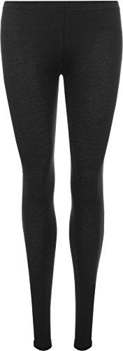 WearAll - Damen Übergröße Lange Leggings - Schwarz - 48 bis 50