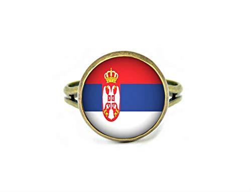 Xubu Nationale Symbool Vlag Sieraden, Servische Vlag Ringen, Nationale Vlag Ringen