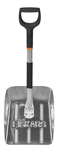 Fiskars Auto-Schneeschaufel, Länge: 71 cm, Aluminium, Schwarz/Silber, 1000740