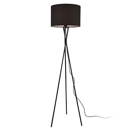 lux.pro Stehleuchte 'Pärnu' 154cm 1x E27 60W Stehlampe Design Standleuchte Stand Lampe Metall Schwarz