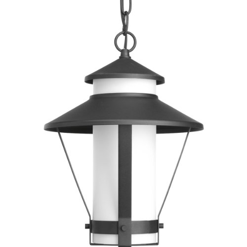 Progress Lighting P6509-31 Contemporary Modern 1-Lt. Hanging Lantern (9``) from Via Collection in Black Finish