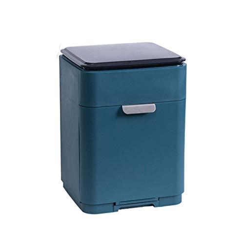 SHYPT Tableware Storage Rack Kitchen Drain Rack,Multi-Functional Dish Drying Rack and Anti-ash Storage Box Cutlery Holder Dish Drainer Utensil Organizer (Color : A)