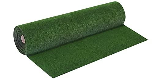 ANRO Kunstrasen Rasenteppich Drainage 7mm Höhe Bodenbelag für In-/Outdoor Bereich Grün Größe 120x100cm