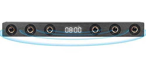 GANE Barra de Sonido estéreo HI-FI de Madera de 30 W, Altavoz inalámbrico de TV Bluetooth, Compatible con RCA AUX HDMI, para televisión de Cine en casa, C