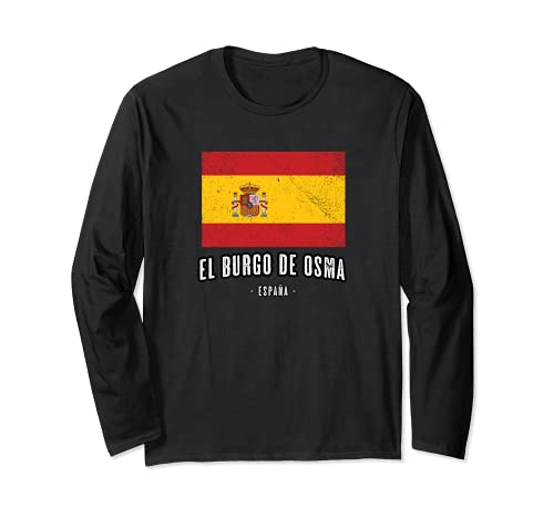 El Burgo de Osma España   Souvenir - Ciudad - Bandera - Manga Larga