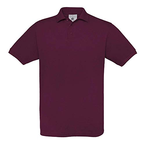 B&C - Piqué Poloshirt 'Safran' XL,Burgundy