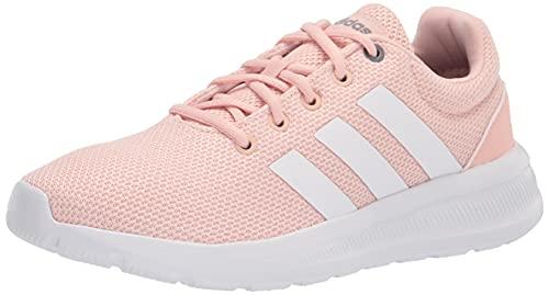 adidas Women's Lite Racer CLN 2.0 Running Shoe, Vapour Pink/White/Iron Metallic, 9