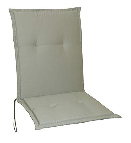 Schwar Textilien Gartenstuhlauflagen Stuhlauflagen Sitzauflagen Auflagen Niedriglehner 5 Farben (Taupe)
