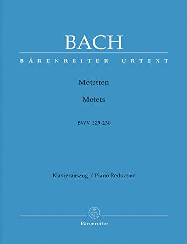 Motetten BWV 225-230. Klavierauszug vokal, Urtextausgabe, Sammelband
