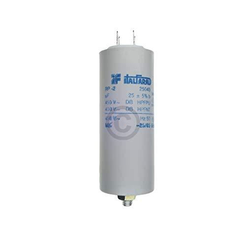 Kondensator 25,00µF uF 450V mit Steckfahnen Waschmaschine