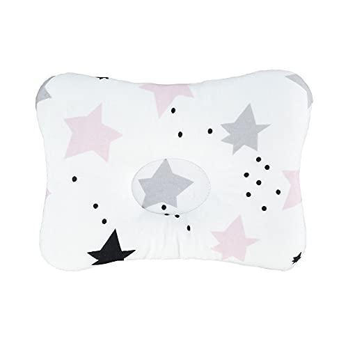 Newborn Baby Pillow, Soft Memory Foam 3D Toddler Pillow for Newborn Baby Crib, Newborn Head Shaping Pillow Prevent Flat Head Newborn Support Pillow(Type A)
