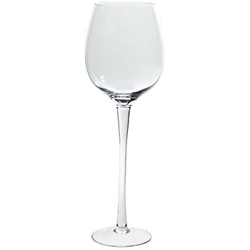 CRISTALICA Windlicht Demi Weinglas XXL Famous 74cm Kerzenhalter Dekogefäß Klarglas Geschenk