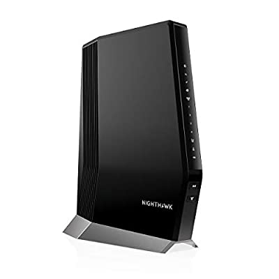 NETGEAR Nighthawk Cable Modem WiFi 6 Router Combo (CAX80) - Compatible with Cable Providers Including Xfinity by Comcast, Spectrum, Cox | Cable Plans Up to 2 Gigabits | AX6000 WiFi 6 Speed, DOCSIS 3.1