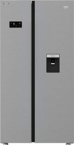 Beko GN163231XB Side-by-Side Kombination/NoFrost/ 0°C-Zone/Multifunktionsdisplay/Wasserspender mit Tank/ 39 dB