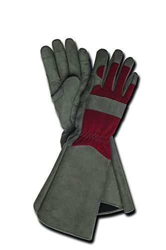 Magid Glove & Safety TE195T-AMZN Rose Glove, Womens - Medium, Grey & Maroon