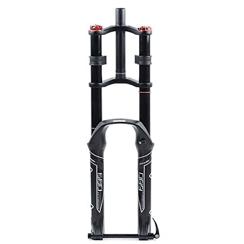 Horquilla delantera de bicicleta, horquilla de suspensión de bicicleta ultraligera 26 27,5 29 pulgadas MTB Horquilla de descenso de recorrido 135 mm Amortiguador de bicicleta recta Amortiguación de