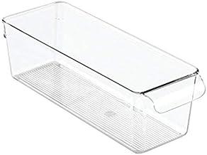 InterDesign Linus Pullz Kitchen Storage Organizer, Clear - 3.5H x 4W x 11.5D inches, Plastic
