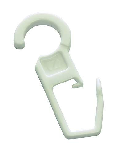 Gardinia Faltenlegehaken weiß, 10er Pack, für Vitragestangen/Spannstangen, Zutreffend, 10