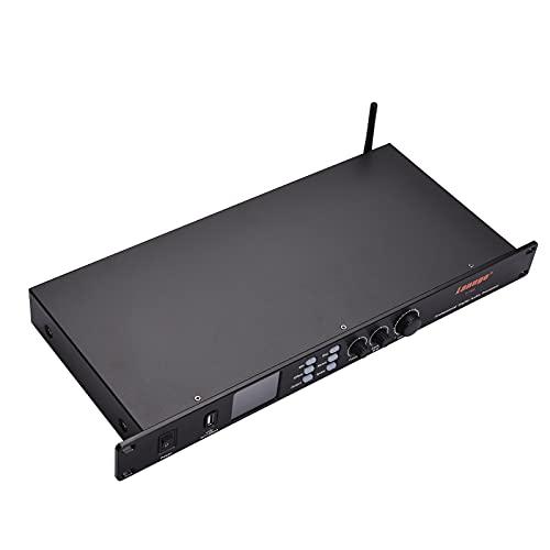 Audioprocessor K-1800 Digitale audioprocessor met 3,5 mm microfoon/USB-geluidskaart/BT-audio-ingang en XLR/3,5 mm…