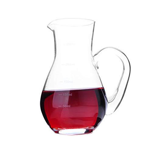 Decanter Creativity With Handle Wine 100 ml/150 ml/250 ml/500 ml con dispensador de vino de cristal sin plomo JXLBB (tamaño: 250 ml)