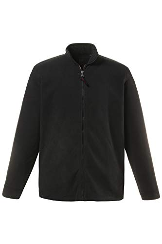 JP 1880 Herren große Größen bis 7 XL, Fleece Jacke, Sweat-Jacke, Stehkragen, Reißverschluss & 2 Taschen, Outdoor Kleidung, schwarz 3XL 705552 10-3XL