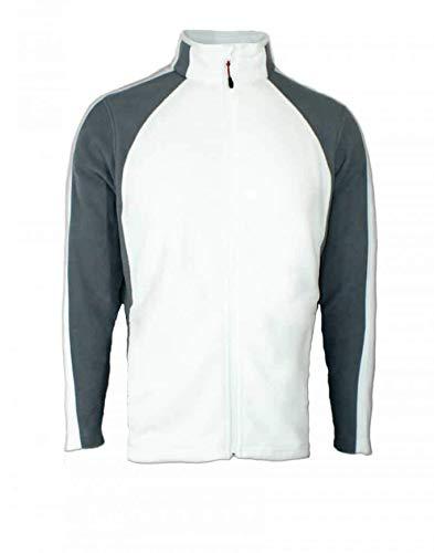 Engelbert Strauss e.s. microflece Jacke dryplexx® Micro Weiss/Schwarz/Grau (Weiss, XL)