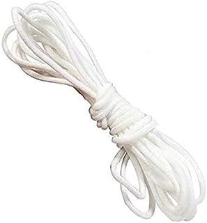 CNXUS 20m Gummikordel 3mm Gummiband Hochwertig Gummib/änder f/ür mundschutz Gummiband rund f/ür DIY N/ähen und Handwerk Wei/ß