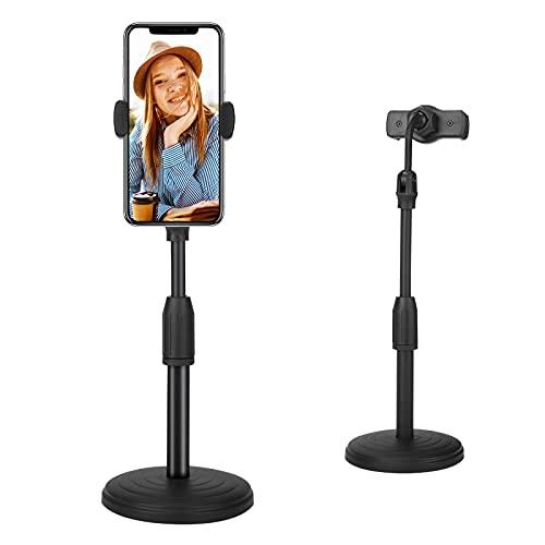 Soporte para teléfono móvil Ajustable, 360 ° Soporte Flexible para teléfono móvil con Cuello de Cisne Soporte de Mesa Universal para iPhone 11 12 Pro Samsung S20 S10 y Dispositivos de 4-7 Pulgadas