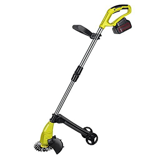 YRCWZF 20V 2.0Ah desbrozadora electrica con Kit Cortador Hierba Hierba Casa Mano Cortador Cepillo para Jardines JardineríA Aire Libre
