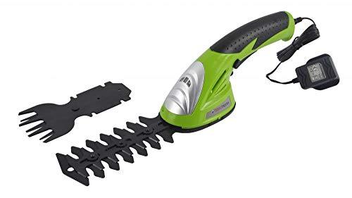 ToolTronix Cordless Electric Shearer Hedge Trimmer 2-in-1 Multi-Function Shrub Grass Lawn Shear Garden Pruner Cutter 3.6V Battery