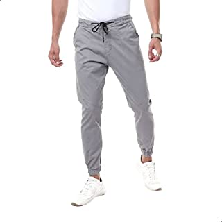 Andora Cotton Drawstring Elastic Waist Slim-Fit Gabardine Pants for Men 40