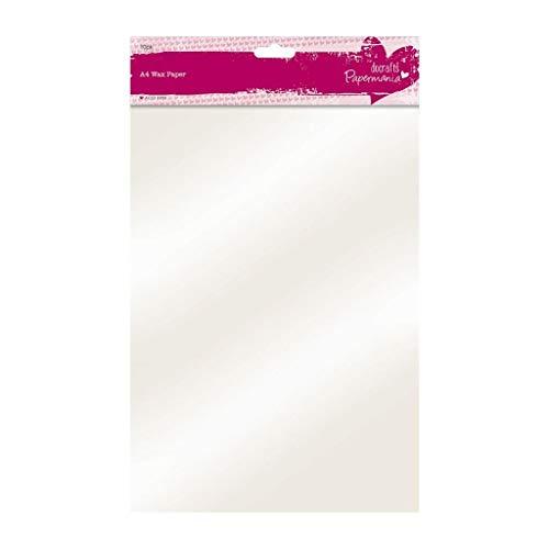 Papermania - Papel Encerado, A4, Color Blanco