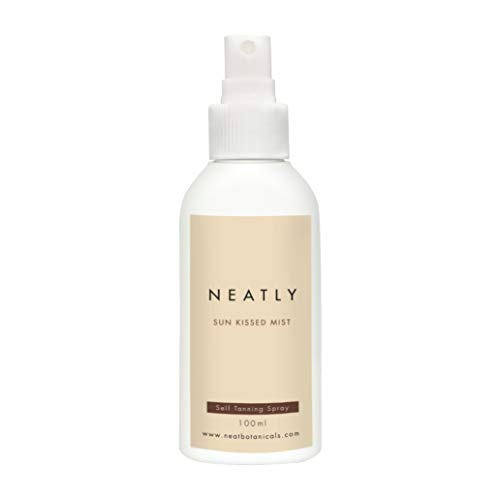 Neatly Sun Kissed Mist Self Tanning Spray I 100 ml I Organic Sun Protection Spray I Moisturizes Your Skin with Streak-Free Effect I With Aloe Vera and Tea Tree Oil I Alternative to Tanning Tablets